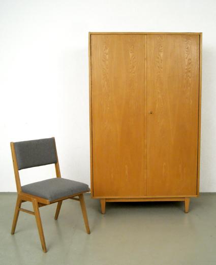 magasin m bel 50er jahre franz ehrlich hellerau kleiderschrank 196. Black Bedroom Furniture Sets. Home Design Ideas