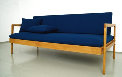 Schon 50er Jahre Sofa Daybed Aus Deutschland. Hersteller: DWH, Deutsche  Werkstätten Hellerau (zugeschrieben) Neu Gepolstert Und Bezogen.