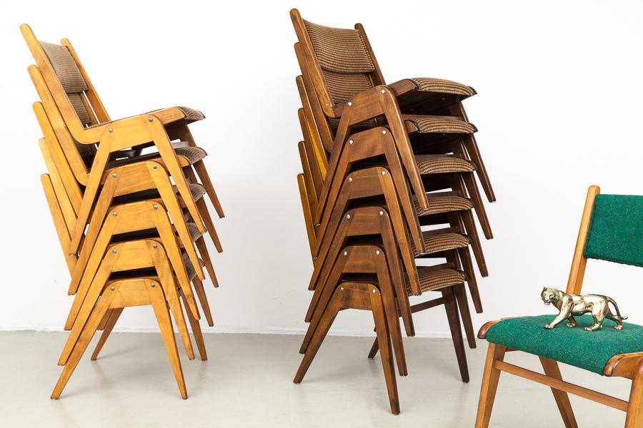 magasin m bel stapelbare 50er jahre st hle 603. Black Bedroom Furniture Sets. Home Design Ideas