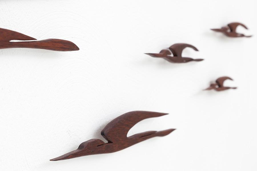 Holz Wandvögel024