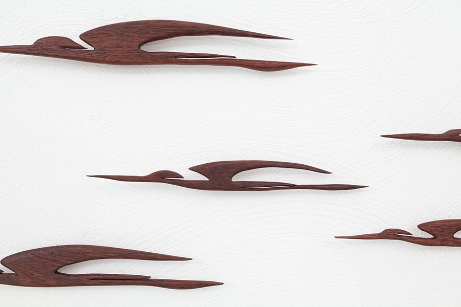 Holz Wandvögel026