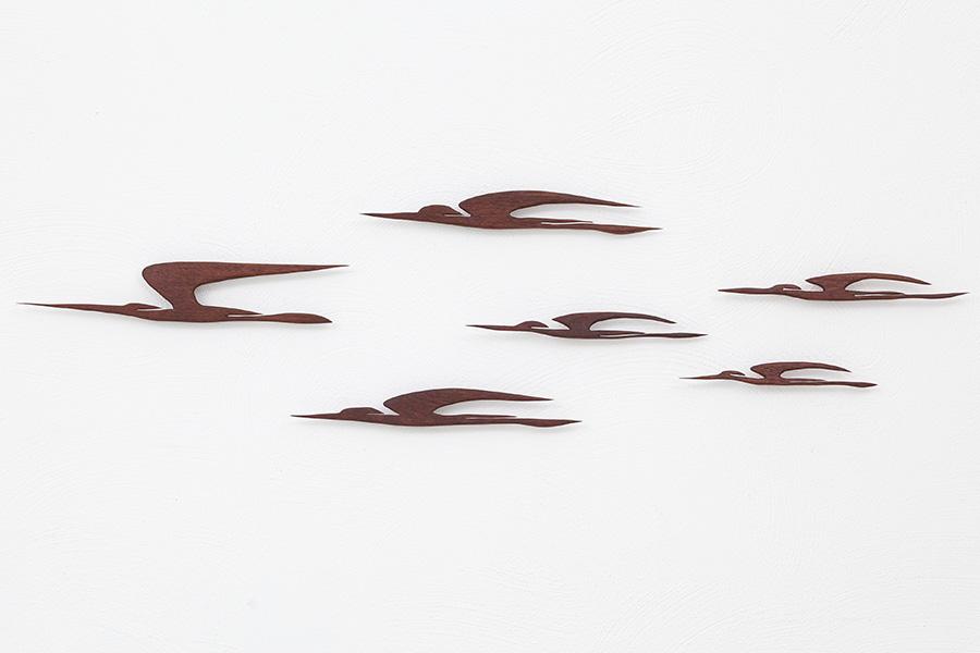 Holz Wandvögel023