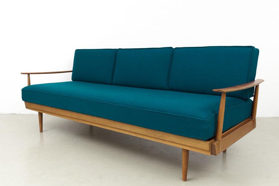 magasin m bel mid century modern knoll antimott sofa daybed 607. Black Bedroom Furniture Sets. Home Design Ideas