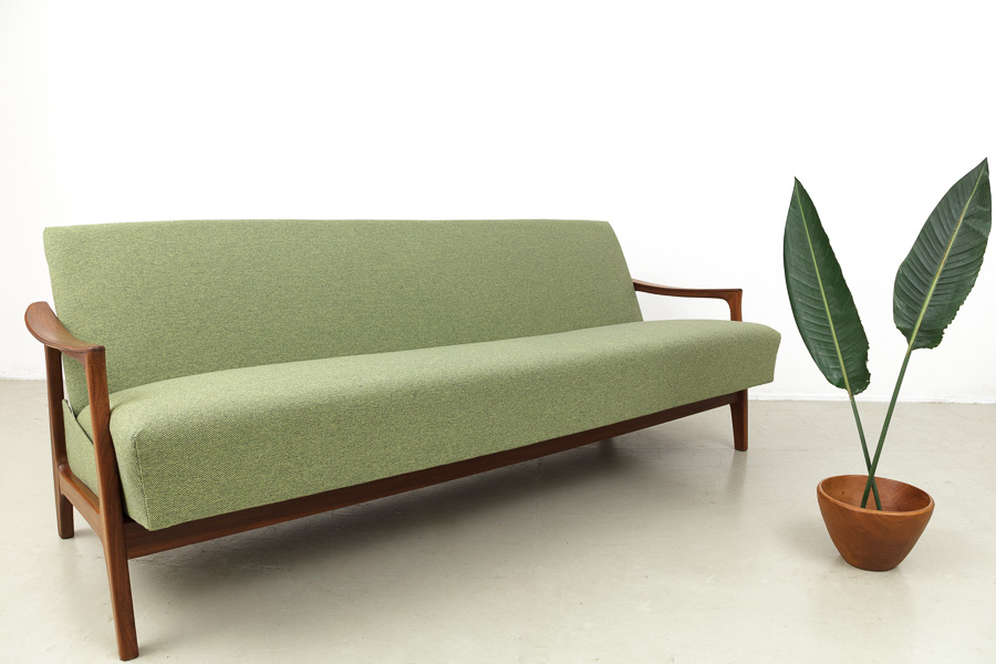 Magasin m bel sale mid century modern teak daybed 609 for Couch 60 jahre