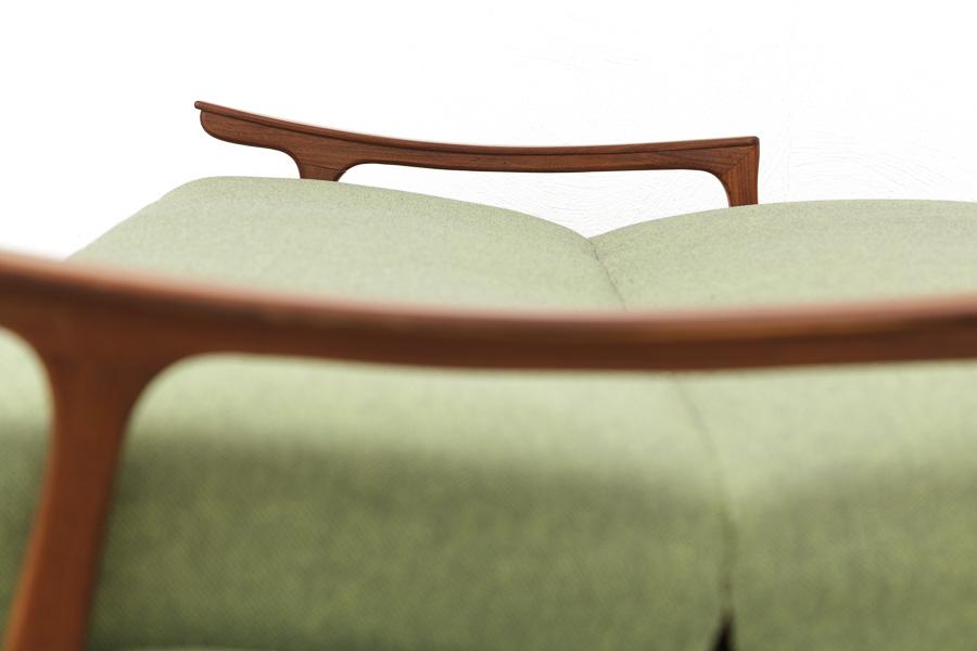 magasin m bel 60er jahre teak sofa schlafsofa 609. Black Bedroom Furniture Sets. Home Design Ideas