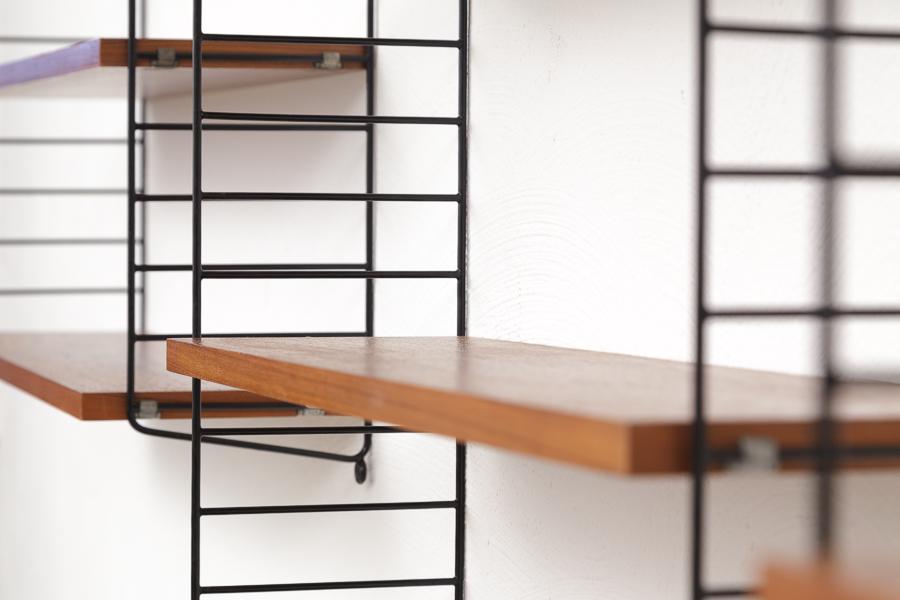 magasin m bel 50er jahre string regal regalsystem 652. Black Bedroom Furniture Sets. Home Design Ideas