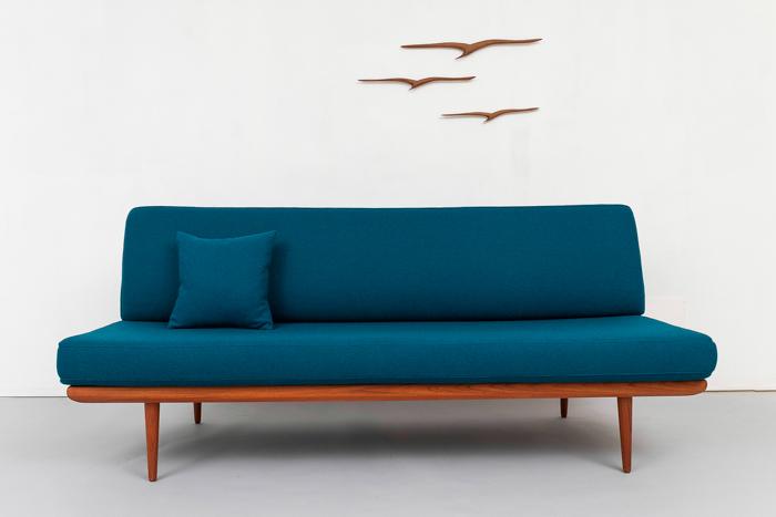 Enjoyable Mid Century Modern Teak Sofa Daybed 739 Magasin Mobel Cjindustries Chair Design For Home Cjindustriesco
