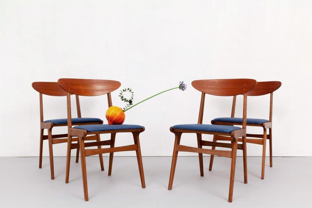 Magasin Möbel Set 4 Pieces Mid Century Modern Teak Chairs 747