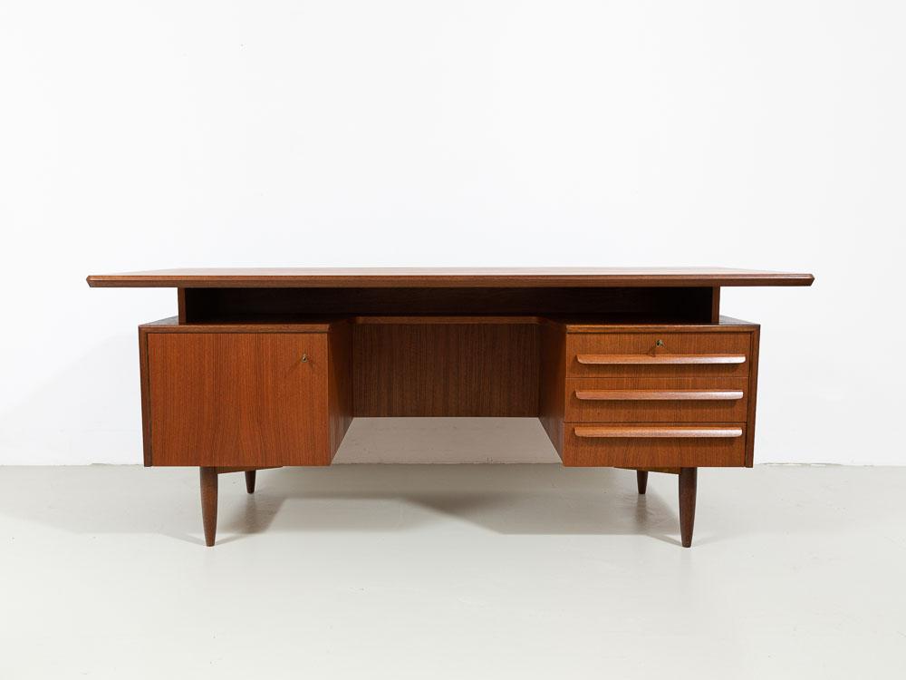 Schreibtisch, Teak, 60er, vintage, dänemark