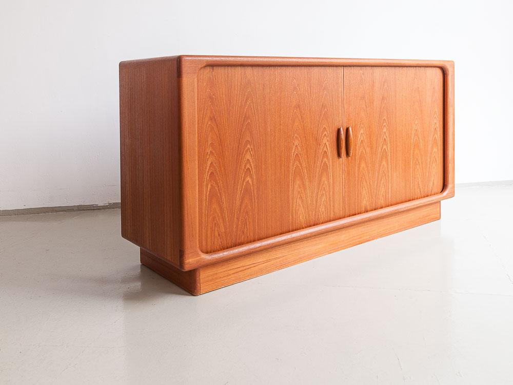 Dyrlund Sideboard, Schiebetür, Dänemark 60er Jahre,