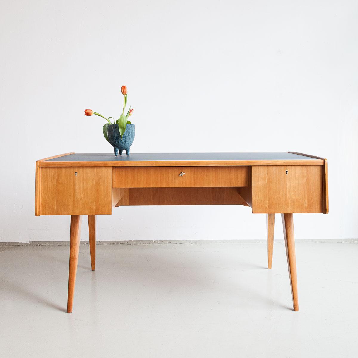 Schreibtisch, Hans Hartel, Linoleum, Hellerau