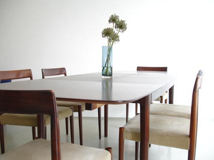 magasin m bel 60er jahre palisander esstisch. Black Bedroom Furniture Sets. Home Design Ideas